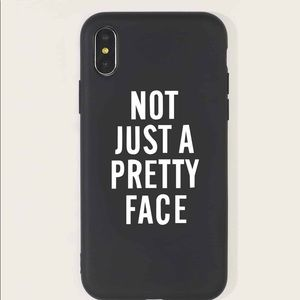 Slogan  Not Just A Pretty Face Case